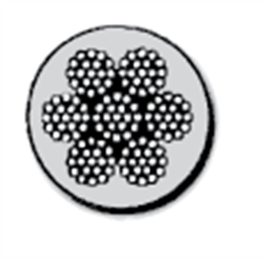 Picture of 7x7   &  7x19  Clear Vinyl Coated Stainless Cable (Type 304 - Aircraft Cable)
