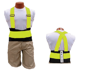 Picture of Back-EZE™ Black Polyester Safety Belts - Safety Green