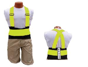 Picture of Back-EZE™ Black Polyester Safety Belts - Safety Green