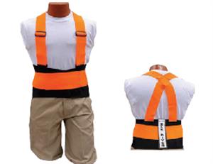 Picture of Back-EZE™ Black Polyester Safety Belts - Safety Orange