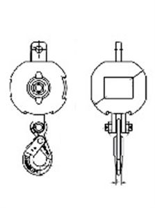 Picture of  Non Swivel Overhaul Balls with Self Locking Hooks